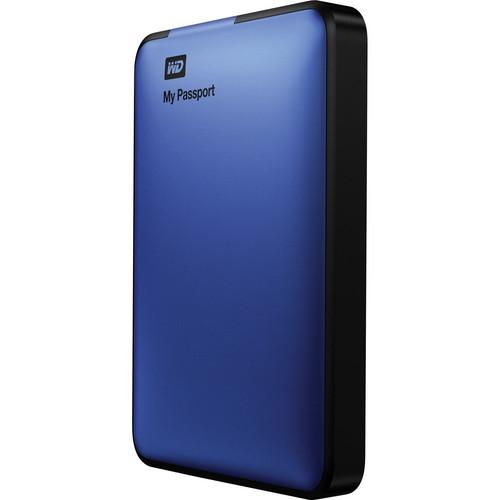 WD 500GB My Passport USB 3.0 Portable Hard Drive (Blue)