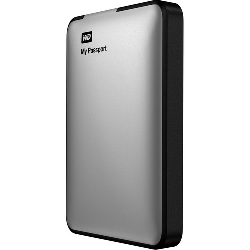 WD 500GB My Passport USB 3.0 Portable Hard Drive (Silver)