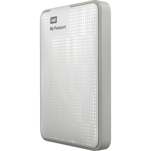 WD 500GB My Passport USB 3.0 Portable Hard Drive (White)