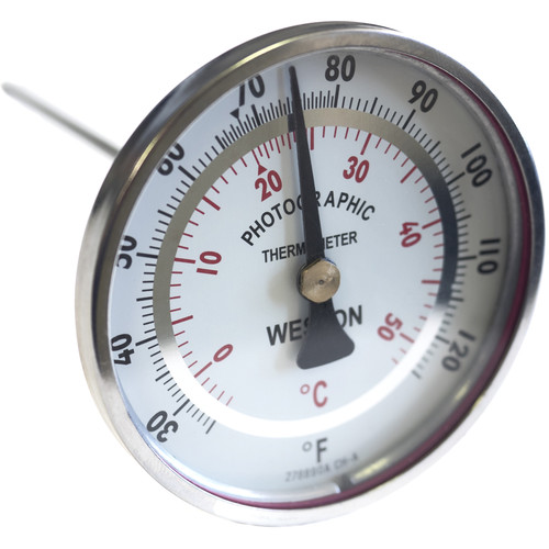 """Weston Weston Stainless Steel Dual Scale Thermometer 3"""" Dial with 6"""" Stem (Temperature Range 25-125 Deg F or 50 Deg C)"""