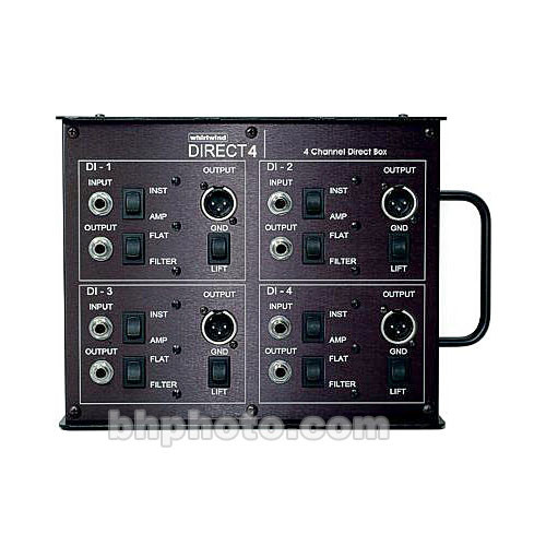 Whirlwind DIRECT4 - Passive, Four Channel Direct Box