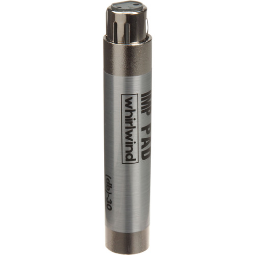 Whirlwind IMPAD30 - In-Line XLR Barrel 30 dB Attenuator