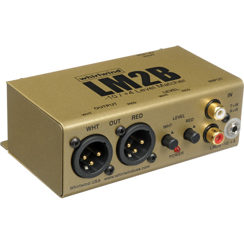 Whirlwind LM2B 2-Channel Line Level Converter