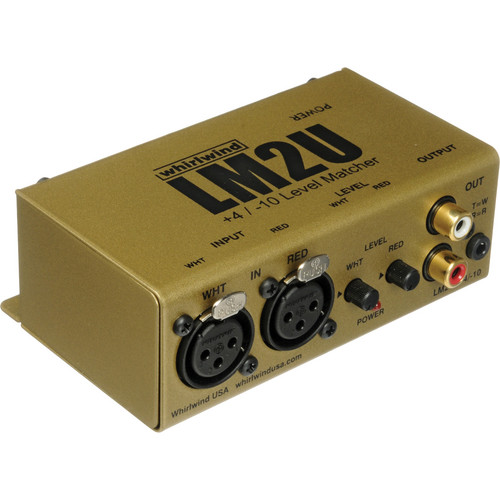 Whirlwind LM2U 2-Channel Line Level Converter