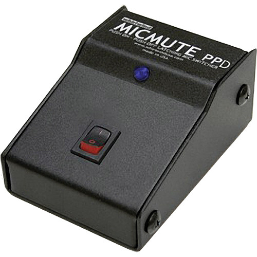 Whirlwind Micmute PPD Latching Switch-On/Switch-Off Audio Switch (Desktop)