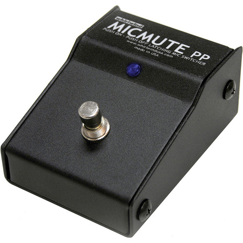 Whirlwind Micmute PP Push-On/Push-Off Audio Switch (Pedal)