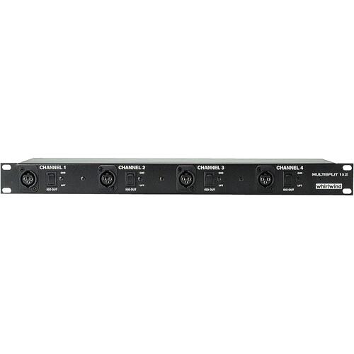 Whirlwind Multisplitter - Rack-mountable Microphone Signal Splitter