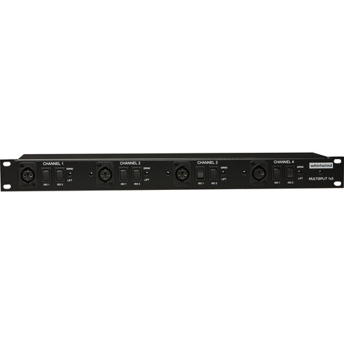 Whirlwind Multisplitter 4 - Rack-mountable Microphone Signal Splitter
