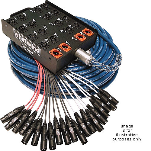 Whirlwind Medusa Standard Series 8 Channel (8x XLR Send & 0x  Return) Stagebox to Fanout Snake - 150'