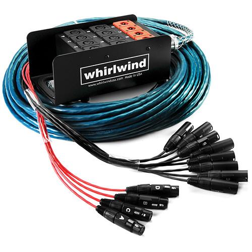 Whirlwind Medusa Standard Series 8 Channel (8x XLR Send & 4x XLR Return) Stagebox to Fanout Snake - 150'