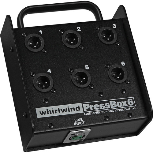 Whirlwind PB06 Passive Press Box with 1 Line in to 6 Mic out