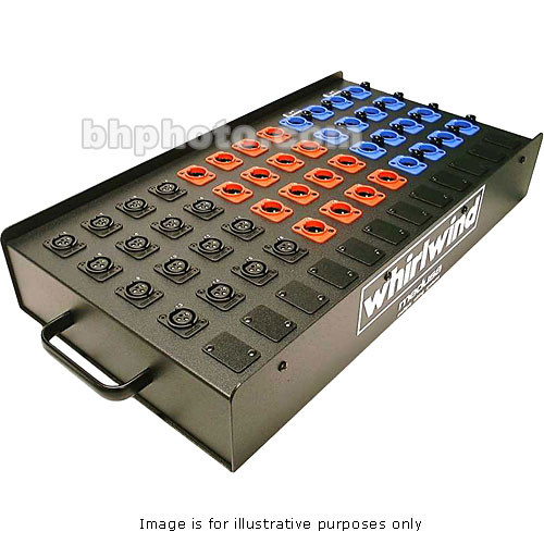 Whirlwind SB08P1G - 8 Input, 16 Output Passive Mic Splitter (2 x Parallel Outputs per Input with Ground Lift Switch)