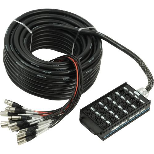 Whirlwind Medusa Connect 16 Channel (4x XLR Return) Snake - 100'