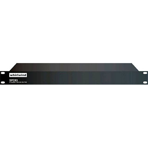 Whirlwind SPC83PLUNT - 8-Channel Line Splitter with Direct and Isolated Outputs