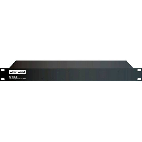Whirlwind SPC83 - 8-Channel Mic Splitter with Direct and Isolated Outputs