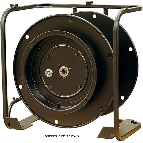 Whirlwind WD7C - Large Stackable Cable Reel with Built-In Connector Panel and Locking Casters