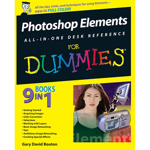 Wiley Publications Book: Photoshop Elements All-in-One Desk Reference For Dummies