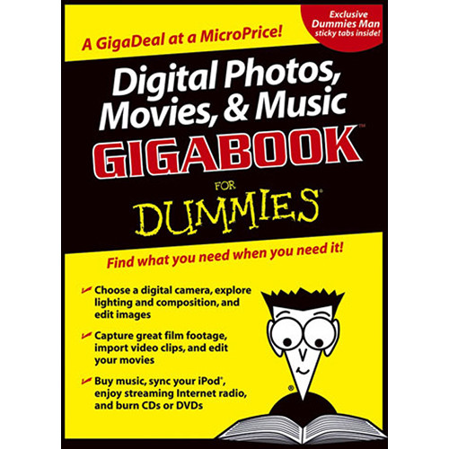 Wiley Publications Book: Digital Photos, Movies, & Music Gigabook For Dummies