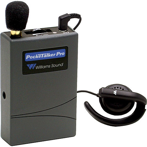 Williams Sound PKTPRO11 - Pocketalker Pro Personal Amplifier Systemwith EAR008 Wide Range Earphone