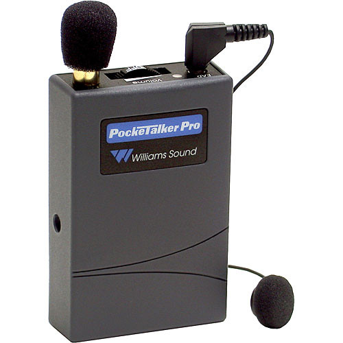 Williams Sound PKTPRO12 - Pocketalker Pro Personal Amplifier System with EAR013 Single Mini Earbud