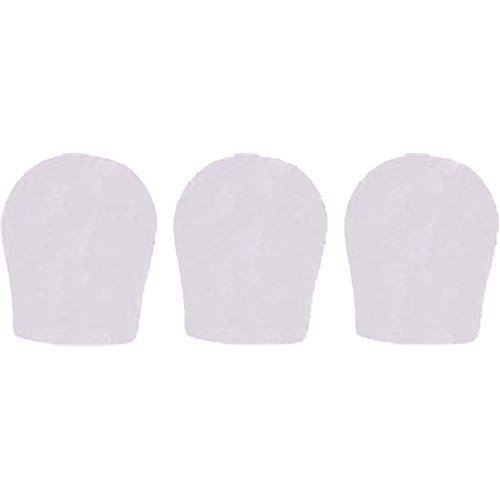 """WindTech 300 Series Windscreens for 1-3/8"""" Diameter Microphones (3 Pack, White)"""
