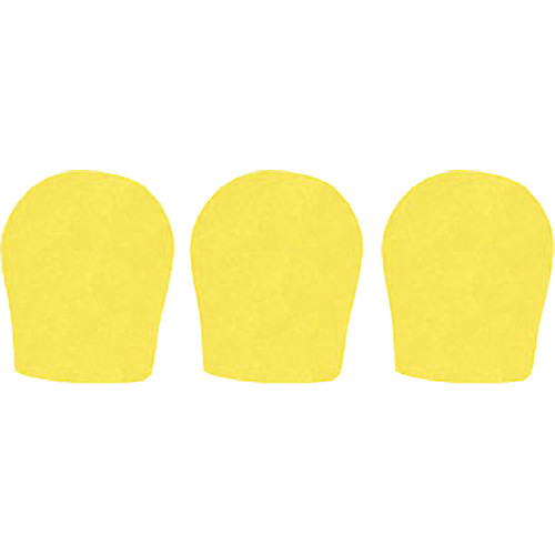 "WindTech 300 Series Windscreens for 1-3/8"" Diameter Microphones (3 Pack, Yellow)"