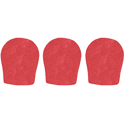 "WindTech 300 Series Windscreens for 1-3/8"" Diameter Microphones (3 Pack, Red)"