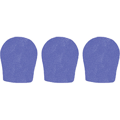 "WindTech 300 Series Windscreens for 1-3/8"" Diameter Microphones (3 Pack, Royal Blue)"