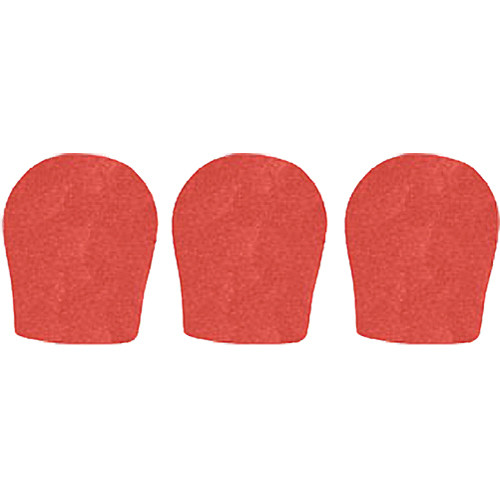 "WindTech 300 Series Windscreens for 1-3/8"" Diameter Microphones (3 Pack, Tangerine)"