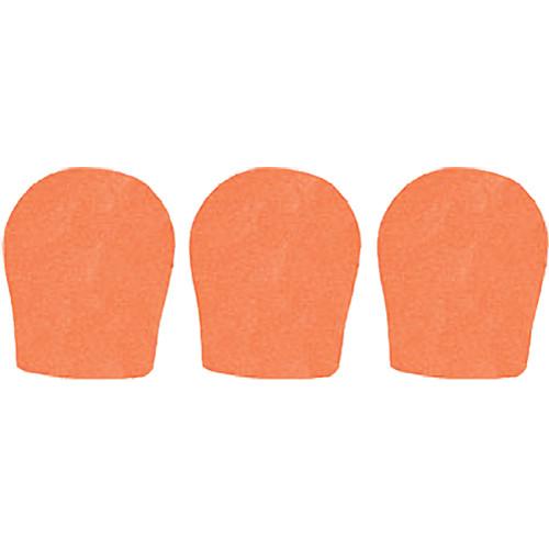 """WindTech 300 Series Windscreens for 1-3/8"""" Diameter Microphones (3 Pack, Orange)"""