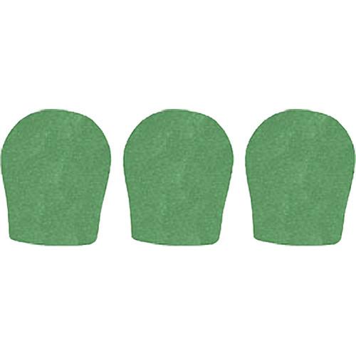 "WindTech 300 Series Windscreens for 1-3/8"" Diameter Microphones (3 Pack, Green)"
