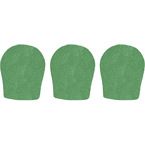 "WindTech 300 Series Windscreens for 1-3/8"" Diameter Microphones (3 Pack, Green)"