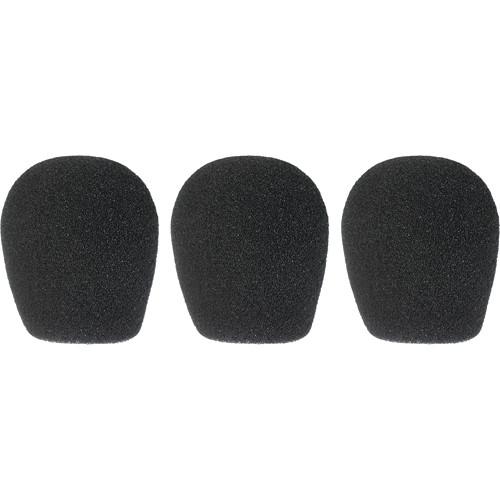 "WindTech 300 Series Windscreens for 1-3/8"" Diameter Microphones (3 Pack, Black)"