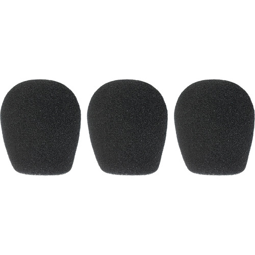 "WindTech 300 Series Windscreens for 1-3/8"" Diameter Microphones (3 Pack, Black)"