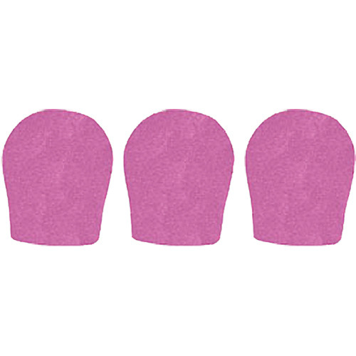 "WindTech 300 Series Windscreens for 1-3/8"" Diameter Microphones (3 Pack, Mauve)"