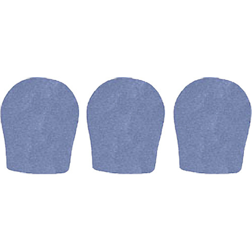 """WindTech 300 Series Windscreens for 1-3/8"""" Diameter Microphones (3 Pack, French Blue)"""