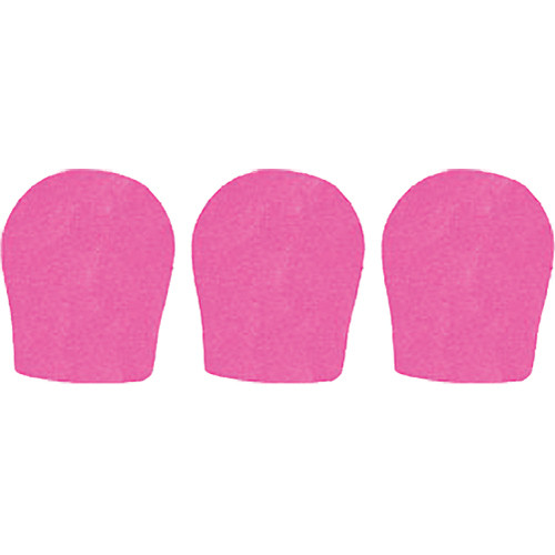 "WindTech 300 Series Windscreens for 1-3/8"" Diameter Microphones (3 Pack, Neon Pink)"