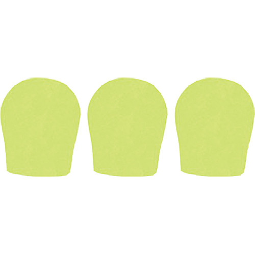"WindTech 300 Series Windscreens for 1-3/8"" Diameter Microphones (3 Pack, Neon Yellow)"
