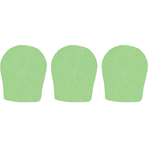 "WindTech 300 Series Windscreens for 1-3/8"" Diameter Microphones (3 Pack, Neon Green)"
