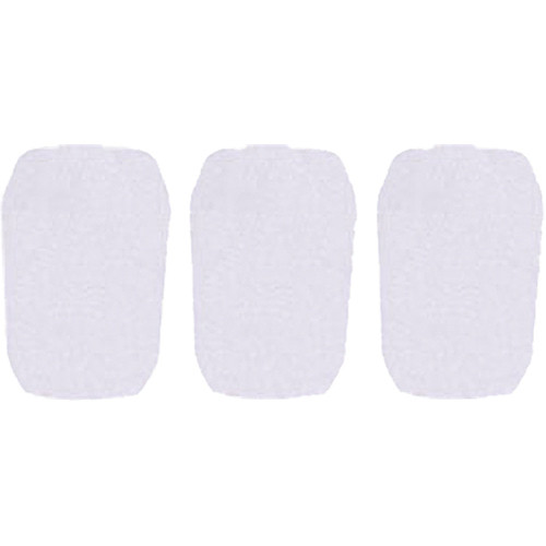 """WindTech 5700 Series Windscreens for 1"""" Diameter Microphones (3 Pack, White)"""