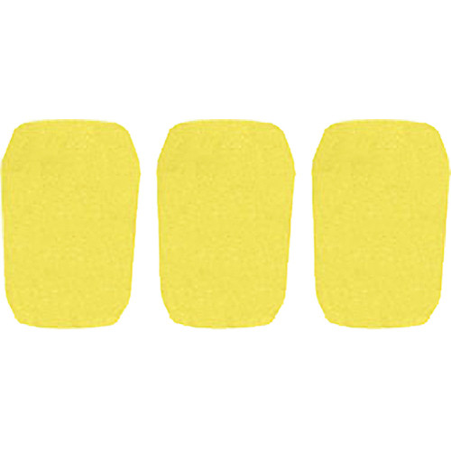 "WindTech 5700 Series Windscreens for 1"" Diameter Microphones (3 Pack, Yellow)"