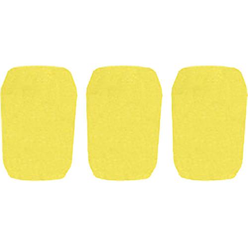 "WindTech 5700 Series Windscreens for 1"" Diameter Microphones (3 Pack, Yellow)"