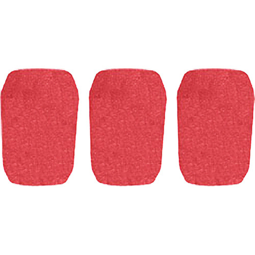 "WindTech 5700 Series Windscreens for 1"" Diameter Microphones (3 Pack, Red)"