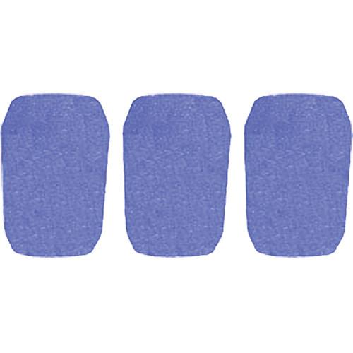 "WindTech 5700 Series Windscreens for 1"" Diameter Microphones (3 Pack, Royal Blue)"