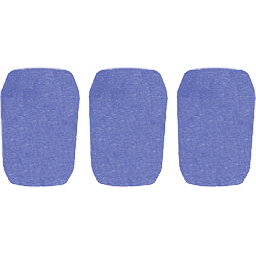 "WindTech 5700 Series Windscreens for 1"" Diameter Microphones (3 Pack, Royal Blue)"