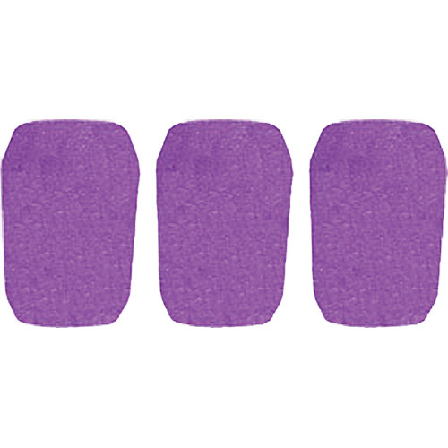 "WindTech 5700 Series Windscreens for 1"" Diameter Microphones (3 Pack, Purple)"