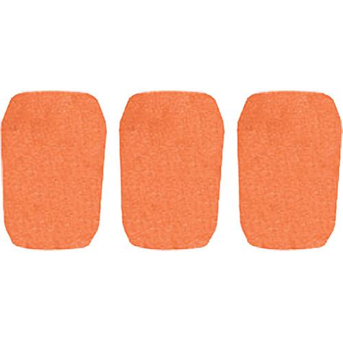 """WindTech 5700 Series Windscreens for 1"""" Diameter Microphones (3 Pack, Orange)"""