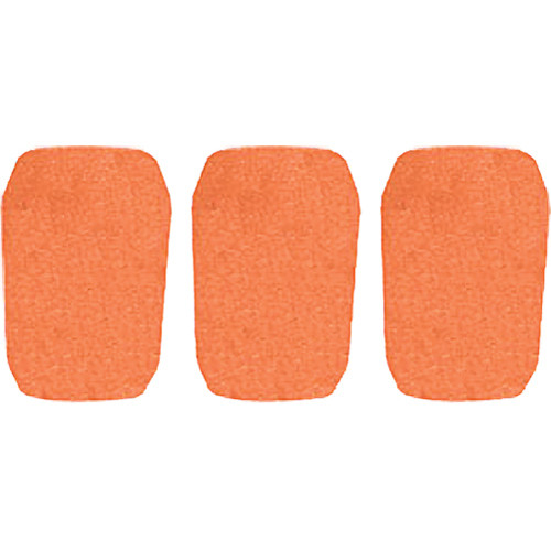 "WindTech 5700 Series Windscreens for 1"" Diameter Microphones (3 Pack, Orange)"