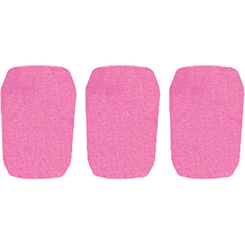 "WindTech 5700 Series Windscreens for 1"" Diameter Microphones (3 Pack, Pink)"