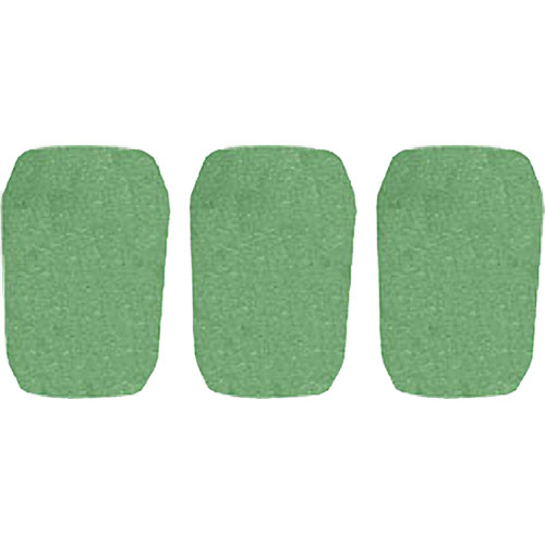 "WindTech 5700 Series Windscreens for 1"" Diameter Microphones (3 Pack, Green)"